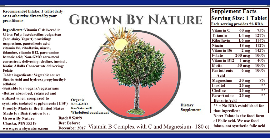 Grown By Nature Whole Food Vitamin C