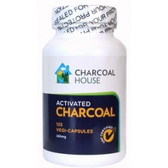 Activated Charcoal Capsules (Coconut Shell) Vegan - 125 CT