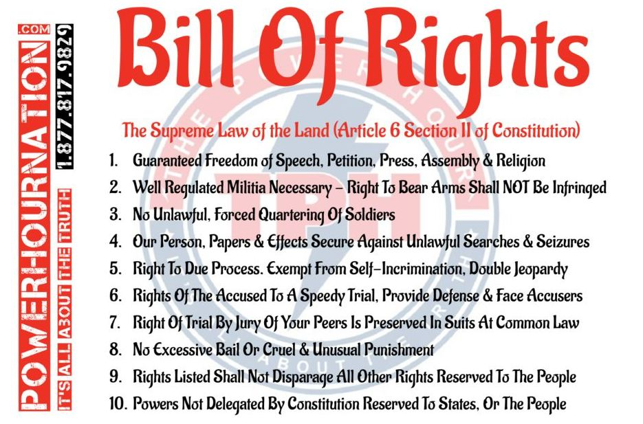 Bill of Rights Magnet