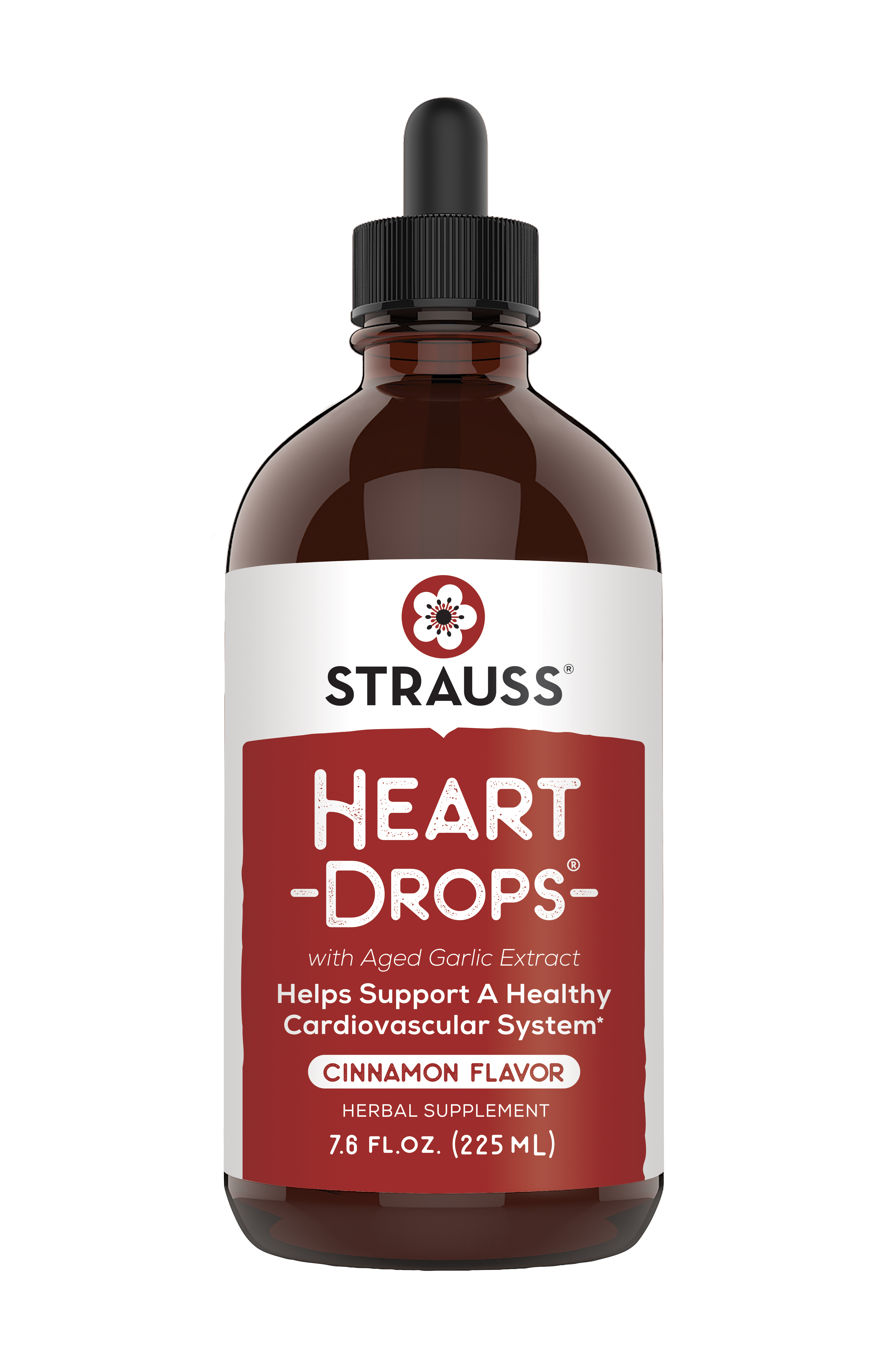Strauss Heartdrops - 7.6 fl oz - CINNAMON